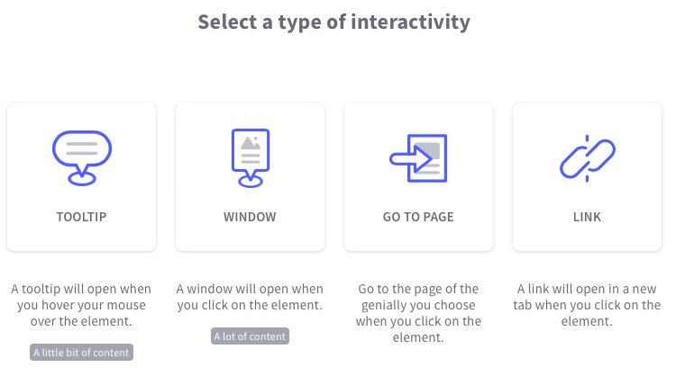 types of interactivity in genially